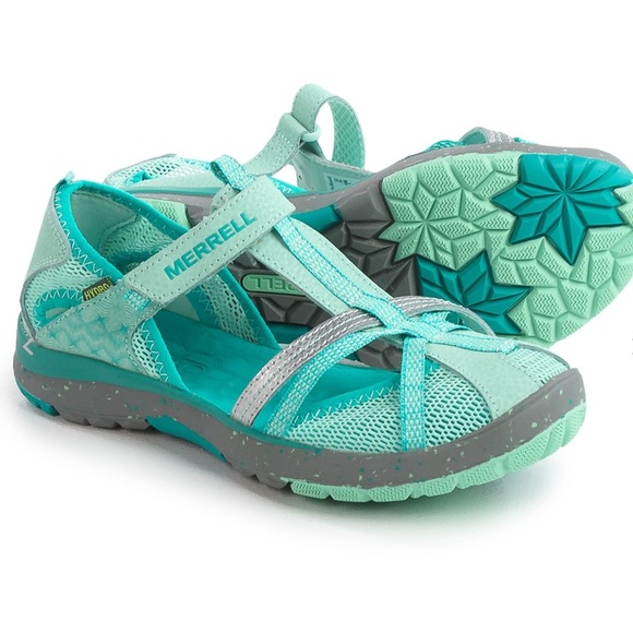 a1f6e632c66d Girls Merrell Hydro Monarch Water Shoes Turquoise.  M 5b391a278ad2f9d652742f4d